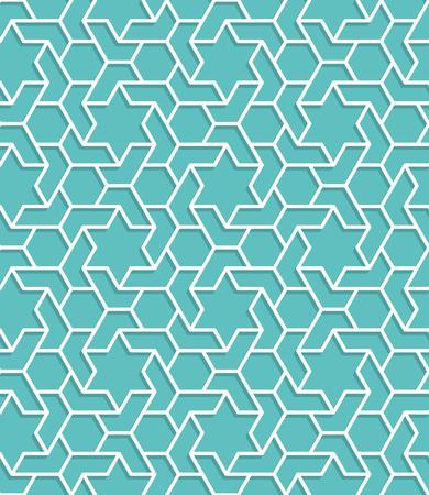di colore blu modello islamico turchese. vettore sfondo geometrico senza soluzione di continuità in stile arabo Vettoriali