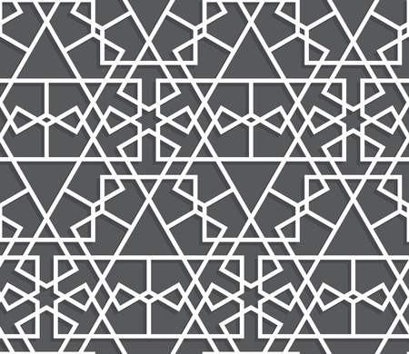 style geometric: Islamic black and white pattern. geometric background in arabian style Illustration