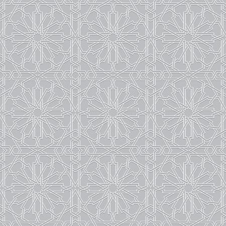 style geometric: Islamic pattern. geometric white grey background in arabian style Illustration