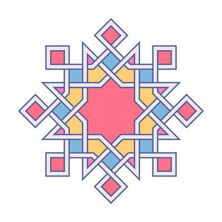 Islamic pattern. Vector geometric lattice mandala in arabic style Illustration