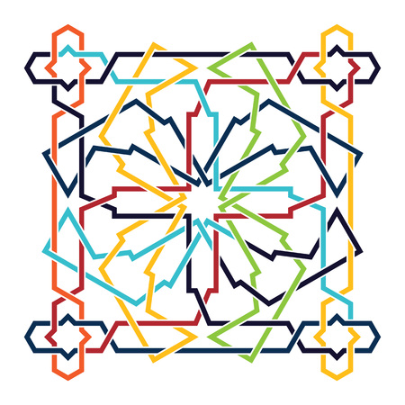 islamic: Islamic pattern. Vector geometric lattice mandala in arabic style Illustration