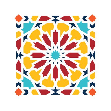Islamic pattern. Vector geometric lattice mandala in arabic style Vectores