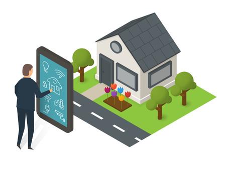 Smart house technology Illustration