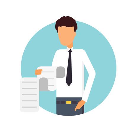 debtor: A lot of all bills, debts. Business vector Illustration