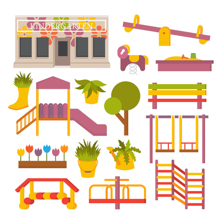 Vector flat playground Illustration