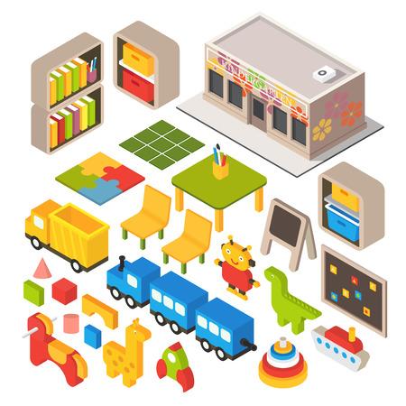 Vector isometric playground Stock Illustratie