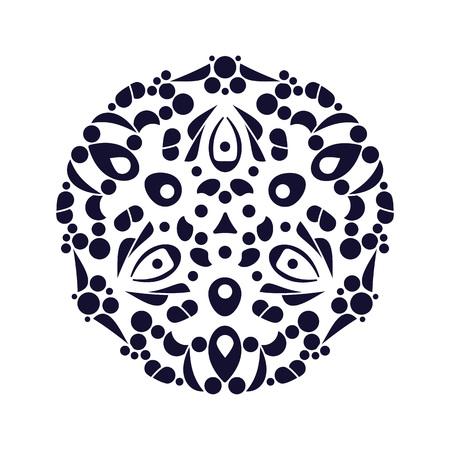 Arabic floral ornament mandala vector illustration.