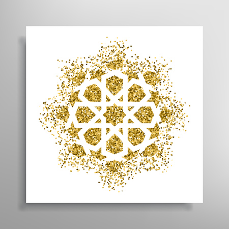 Vector islamic golden pattern Illustration