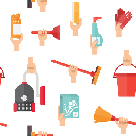 Cleaning service supplies illustration. Illustration