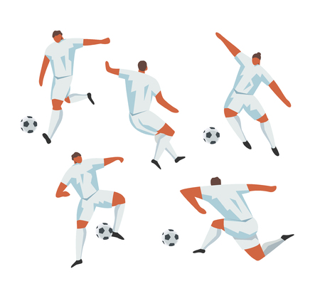 Soccer Players Action. Football Vector Sport Set