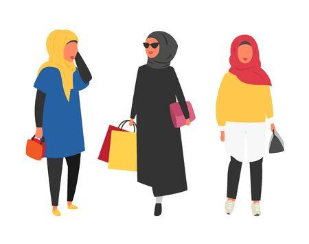 Hijab muslim woman. Arab modern fashion.