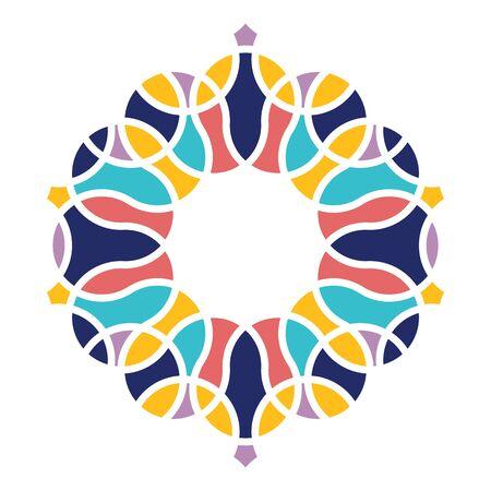 Islamic Arabic mandala Vettoriali