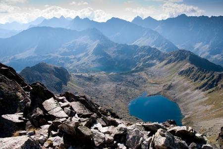 Cinco lagos aldeia de montanha Tatra na Polônia, Europa Tatra Mountain National Park Imagens