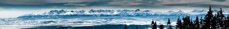 Tatra mountains big panorama from Babia Gora