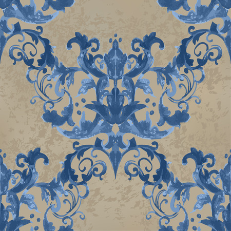 fabric patterns: illustration. luxury texture for wallpapers, fabric patterns Baroque, Damask seamless floral pattern. Illustration