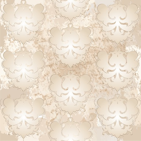 plant cell: illustration, pattern Baroque. Elegant luxury texture for wallpapers, backgrounds and page fill. Illustration