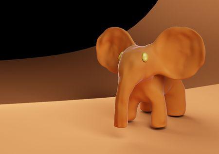 small toy elephant  Stock Photo