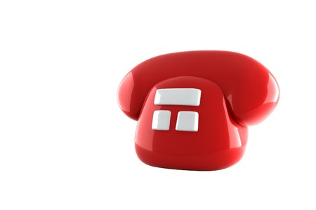 red fon with three white buttons