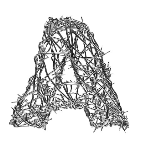 barbed wire type with alpha channel a photo