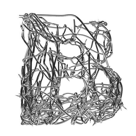 fil de fer: fil de fer barbelé avec canal alpha de type b