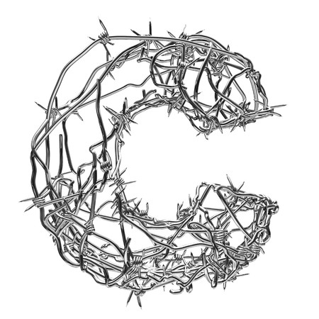 barbed wire type with alpha channel c