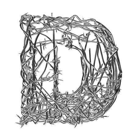 barbed wire type with alpha channel d photo