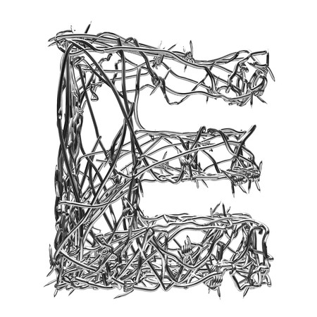 barbed wire type with alpha channel e Stock Photo - 3947551