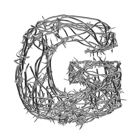 barbed wire type with alpha channel g
