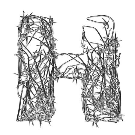 barbed wire type with alpha channel h