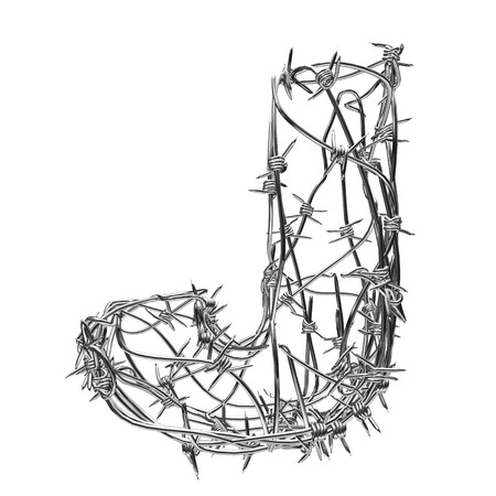 barbed wire type with alpha channel j photo