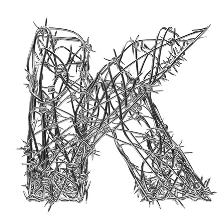 barbed wire type with alpha channel k