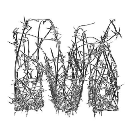 barbed wire type with alpha channel m