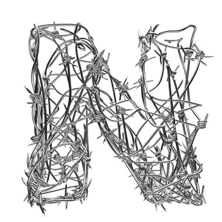 barbed wire type with alpha channel n