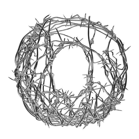 barbed wire type with alpha channel o