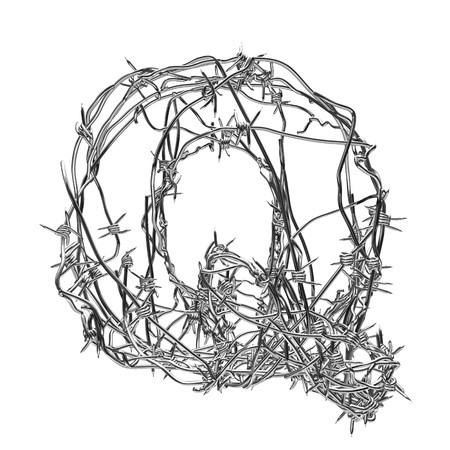 barbed wire type with alpha channel q