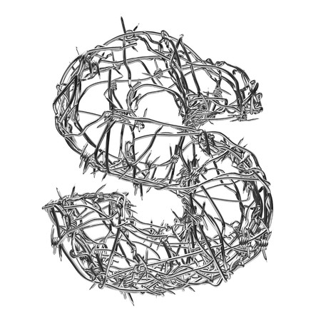 barbed wire type with alpha channel s Stock Photo - 3947554