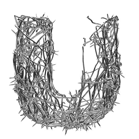 barbed wire type with alpha channel u