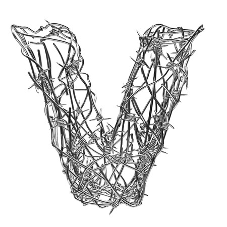 barbed wire type with alpha channel v