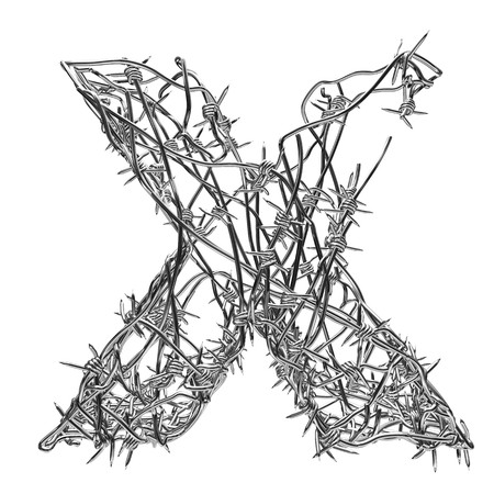 barbed wire type with alpha channel x photo