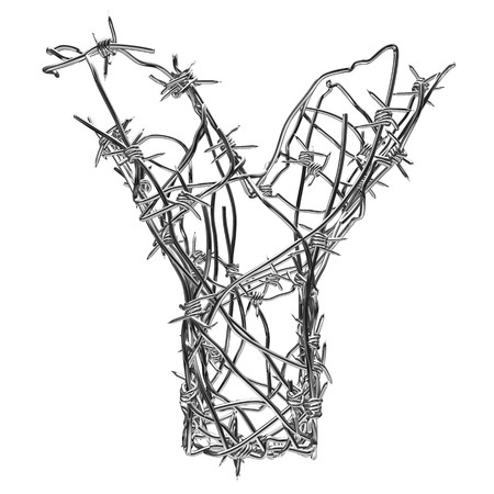 barbed wire type with alpha channel y photo