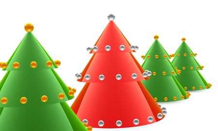 Close up of main christmas tree