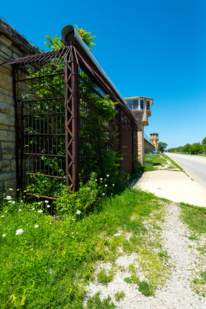 Side entrance and wall of Joliet Penitentiary IL.