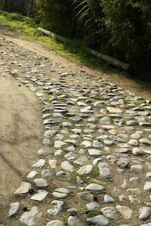 Agrestal path of stone, I walk for cars at the house of farm, Stock Photo - 7623268