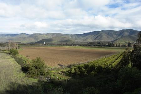 rupestrian: Farm landscape, small valley in the city of Santiago, chili