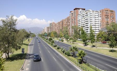 Santiago City, Avenue Kennedy, Chile Stock Photo