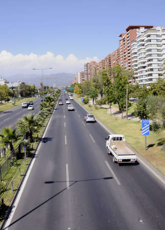 Santiago City, Avenue Kennedy, Chile Stock Photo
