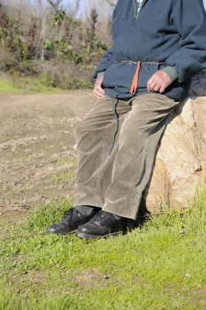 weary: Legs of a weary man