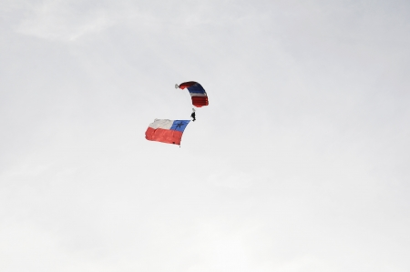 Skydiving  Chile Stock Photo