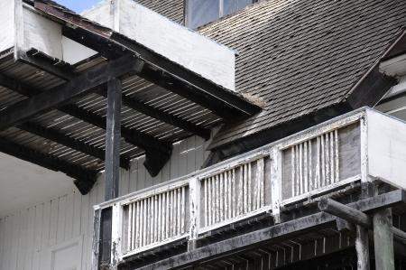 Balcony, old wooden structure