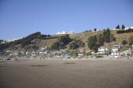 Beach, Mantencillo  chili maritime village Stock Photo